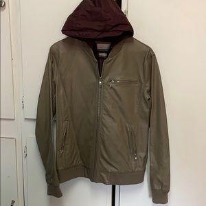 Men's Zara bomber jacket with trim
